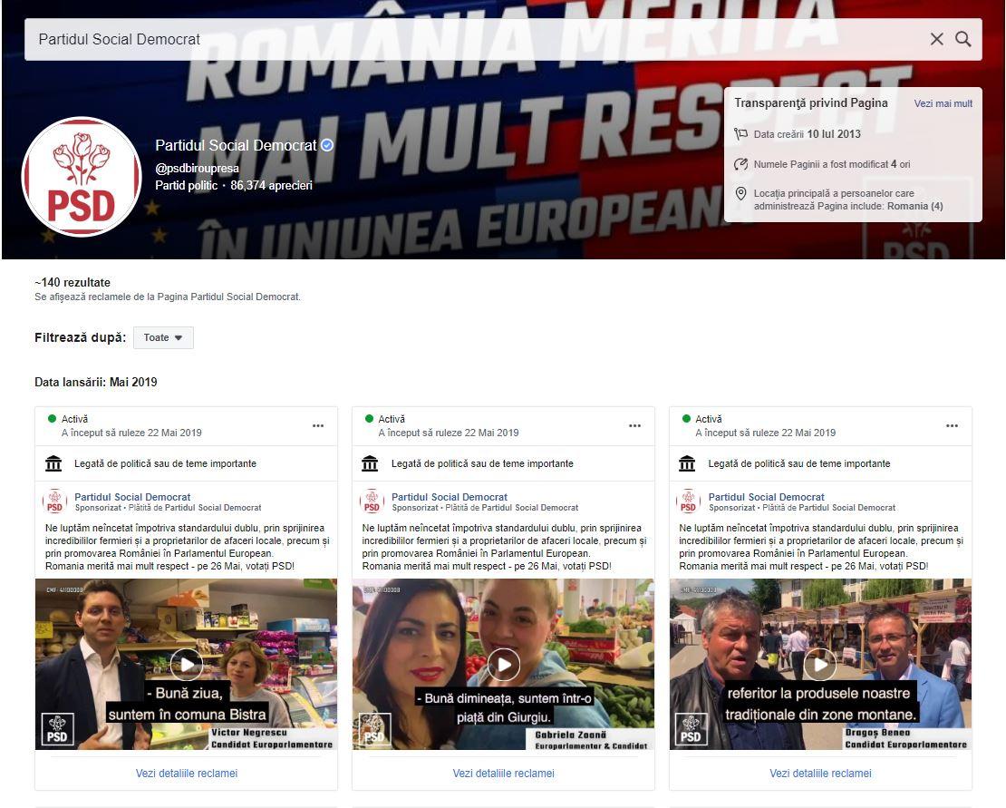 reclame PSD alegeri 26 mai